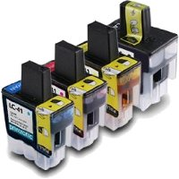 Brother LC41BK / LC41C / LC41M / LC41Y Compatible Discount Ink Cartridges MultiPack