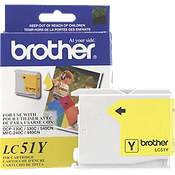 Brother LC51Y ( Brother LC-51Y ) Discount Ink Cartridge