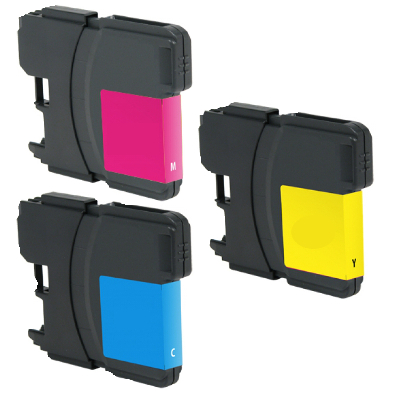 Compatible Brother LC-61C / LC-61M / LC-61Y ( LC-65HYC ) Multicolor Discount Ink Cartridge