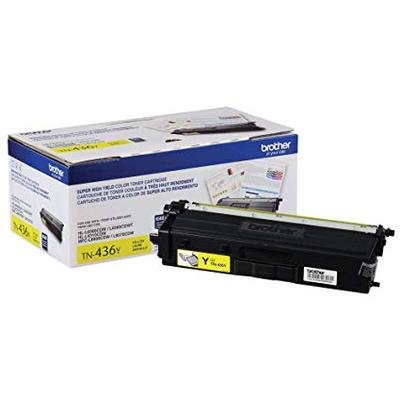 OEM Brother TN-436Y ( TN436Y ) Yellow Laser Cartridge
