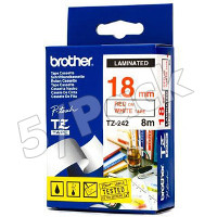 Brother TZ242 ( Brother TZ-242 ) P-Touch Tapes (5/Pack)