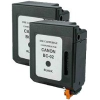 Canon BC-02 Black Professionally Remanufactured  Printhead Discount Ink Cartridges (2/Pack)
