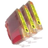 Canon BCI-3eY Compatible Yellow Discount Ink Cartridges (3/Pack)