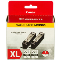 Canon 0319C005 / PGI-270XL Black Discount Ink Cartridges (2/Pack)