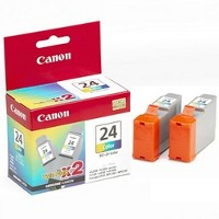 Canon 6882A010 ( Canon BCI-24C ) Discount Ink Cartridges (2/Pack)