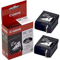 BC-02 Black BubbleJet Printhead Discount Ink Cartridges (2/Pack)