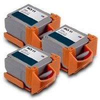 Canon BCI-11 Compatible Tri-Color Discount Ink Cartridges (3/Pack)