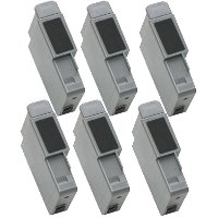 A pack of 6 Canon BCI-21 Compatible Black Discount Ink Cartridges