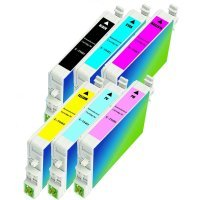 Epson T048120 / T048220 / T048320 / T048420 / T048520 / T048620 Remanufactured Discount Ink Cartridge Multi Pack