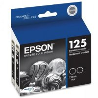 Epson T125120-D2 Discount Ink Cartridge Dual Pack