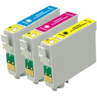 Epson T125520 Remanufactured Discount Ink Cartridge Value Pack (C/M/Y)