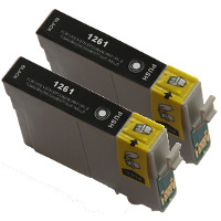 Epson T126120-D2 Remanufactured Discount Ink Cartridge Dual Pack