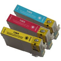 Epson T126520 Remanufactured Discount Ink Cartridge Value Pack (C/M/Y)