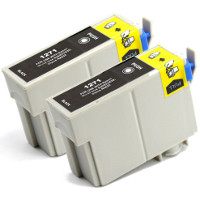Epson T127120-D2 Remanufactured Discount Ink Cartridge Twin Pack