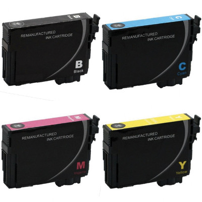 Remanufactured Epson T220XL120 / T220XL220 / T220XL320 / T220XL420 ( T220XL220 ) Multicolor Discount Ink Cartridge