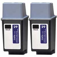 Hewlett Packard HP 51629A ( HP 29 ) Remanufactured Discount Ink Cartridges (2/Pack)