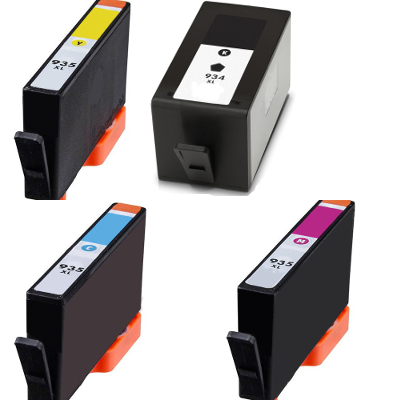 Remanufactured HP 934XL Black / 935XL Cyan / 935XL Magenta / 935XL Yellow ( C2P23AN ) Multicolor Discount Ink Cartridge