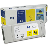 Hewlett Packard HP C4933A ( HP 81 ) Yellow Dye Discount Ink Cartridge