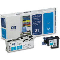 Hewlett Packard HP C4951A ( HP 81 ) Cyan Printhead Discount Ink Cartridge with Printhead cleaner