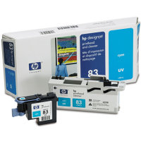 Hewlett Packard HP C4961A ( HP 83 ) Cyan Printhead Discount Ink Cartridge with Printhead cleaner