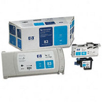 Hewlett Packard HP C5001A ( HP 83 ) Cyan UV Value Pack (Discount Ink Cartridge / Printhead / Cleaner)