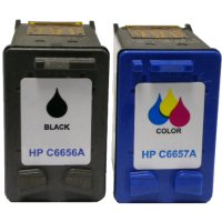 Hewlett Packard HP C9321BN ( HP 56/57 ) Remanufactured Discount Ink Cartridge Twin Pack