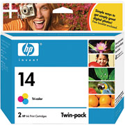 Hewlett Packard HP C9342FN ( HP 14 ) Discount Ink Cartridge Twin Pack