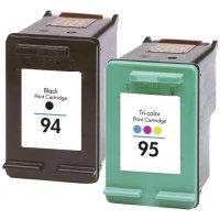 Hewlett Packard HP C9354FN ( HP 94/95 ) Remanufactured Discount Ink Cartridge Combo Pack