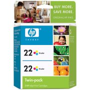 Hewlett Packard HP CC580FN ( HP 22 Twinpack ) Discount Ink Cartridge Twin Pack