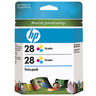 Hewlett Packard HP CD995FN ( HP 28 Twinpack ) Discount Ink Cartridge Twin Pack