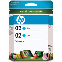 Hewlett Packard HP CD996FN ( HP 02 cyan ) Discount Ink Cartridge Twin Pack