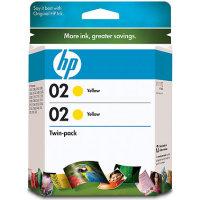 Hewlett Packard HP CD998FN ( HP 02 yellow ) Discount Ink Cartridge Twin Pack