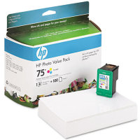 Hewlett Packard HP CG501AN ( HP 75 Photo Value Pack ) Discount Ink Cartridge Value Pack