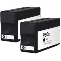 Hewlett Packard HP CN045AN ( HP 950XL black ) Remanufactured Discount Ink Cartridges (2/Pack)