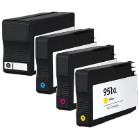 Remanufactured HP 950XL Black / 951XL Cyan / 951XL Magenta / 951XL Yellow ( CN045AN-CN046AN-CN047AN-CN048AN ) Multicolor Discount Ink Cartridge