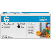Hewlett Packard HP Q6000AD Laser Cartridge Dual Pack