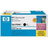 Hewlett Packard HP Q6470AD Laser Cartridge Dual Pack