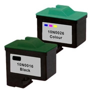Lexmark 10N0016 ( #16 ) / 10N0026 ( #26 ) Remanufactured Discount Ink Cartridges