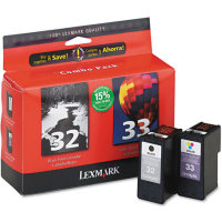 Lexmark 18C0532 ( Lexmark Twin-Pack #32, #33 ) Discount Ink Cartridge Combo Pack