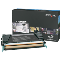 OEM Lexmark C734A2KG Black Laser Cartridge