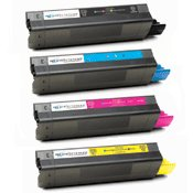 Compatible Okidata 42127401 / 42127402 / 42127403 / 42127404 ( 42127401 ) Multicolor Laser Cartridge