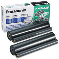 Panasonic KX-FA136 ( Panasonic KXFA136 ) Thermal Transfer Fax Refill Ribbons (2/Box)