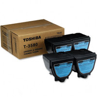 Toshiba T3580 Black Laser Cartridges (4/Pack)